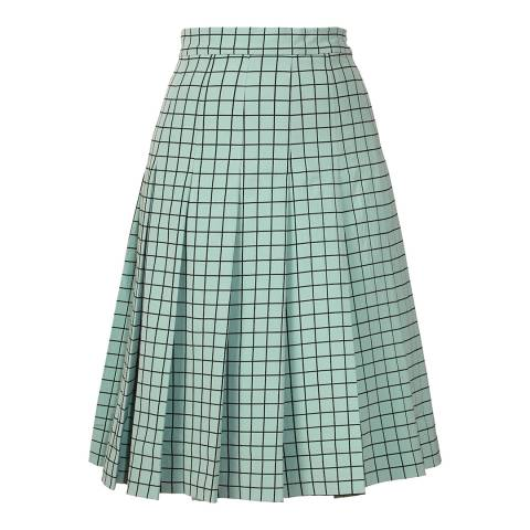 Orla Kiely Pistachio Window Pane Jacquard Skirt