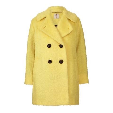 Orla Kiely Yellow Winter Mohair Cocoon Coat