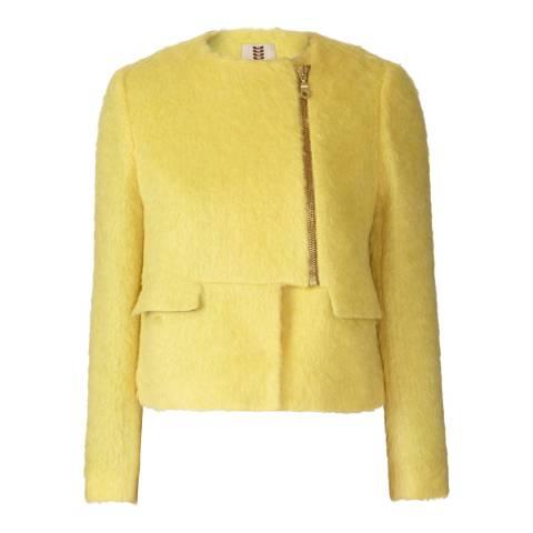 Orla Kiely Yellow Winter Mohair Jacket