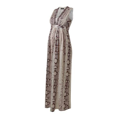 Isabella Oliver Dahlia Snake Print Zahara Silk Maternity Maxi Dress