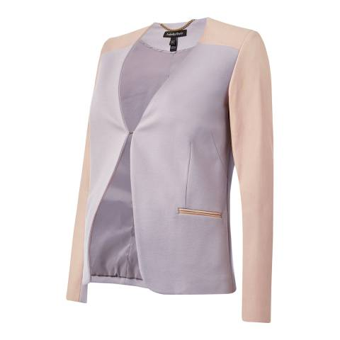 Isabella Oliver Chalk Grey / Nude Pink Salina Maternity Jacket