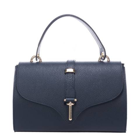 Markese Blue Top Handle Leather Bag