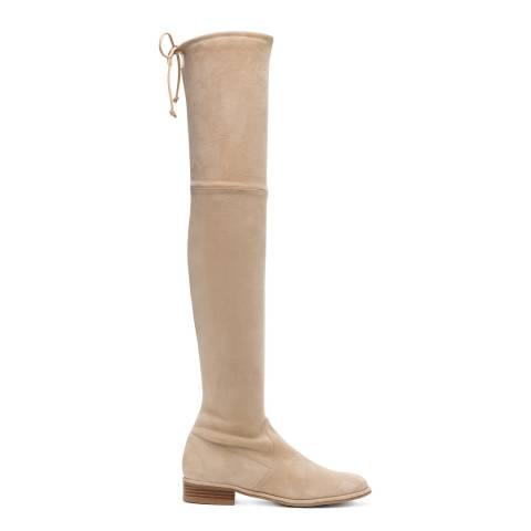 Stuart Weitzman Camel Suede Lowland Long Boots