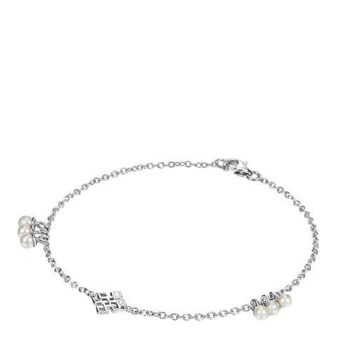 The Pacific Pearl Company Silver/White Freshwater Pearl Bracelet