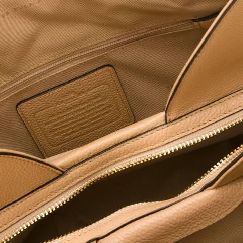 Cream Leather Edie Shoulder Bag - BrandAlley c3bffcac9c031