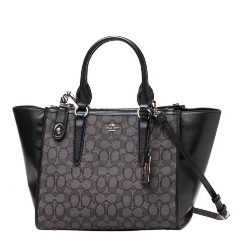 cee48b4a8f Black/Grey Leather Crossby Carryall - BrandAlley