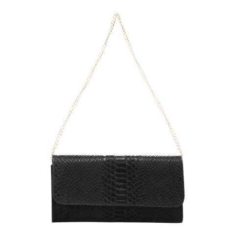 Giorgio Costa Black Leather Clutch Bag