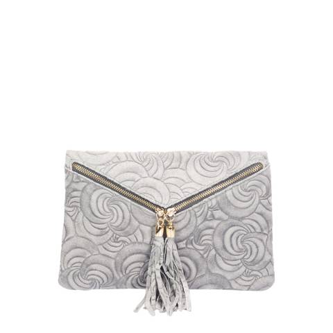 Lisa Minardi Grey Leather Clutch Bag