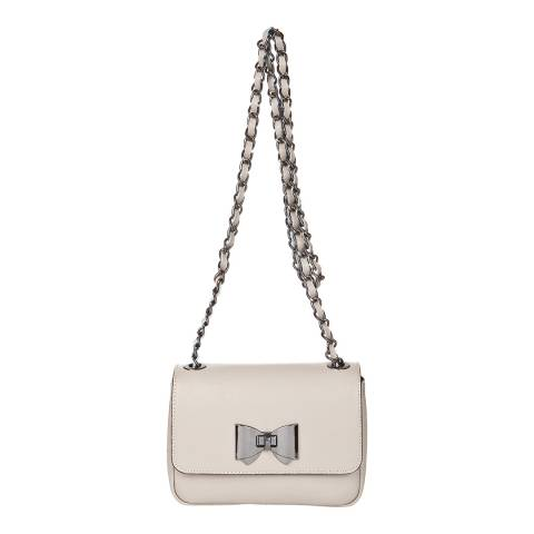Giorgio Costa Taupe Bow Shoulder Bag
