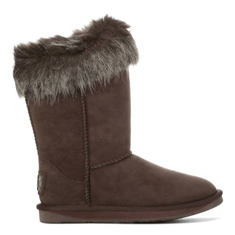 Australia Luxe Collective Expresso Sheepskin Foxy Faux Fur Boots