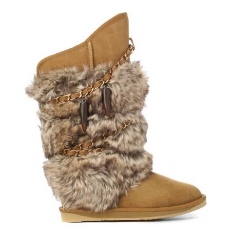 Australia Luxe Collective Tobacco Sheepskin Atilla Faux Fur Boots