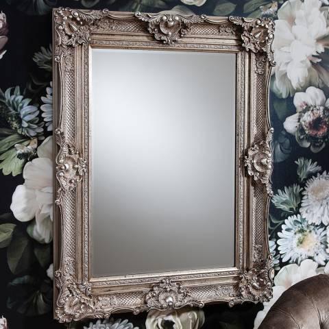 Gallery Silver Stretton Wall Mirror 118x88cm