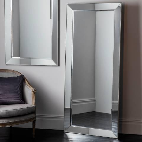 Gallery Silver Bertoni Leaner Mirror 191x81cm