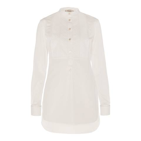 Temperley London Cream Luella Pin Tuck Cotton Shirt