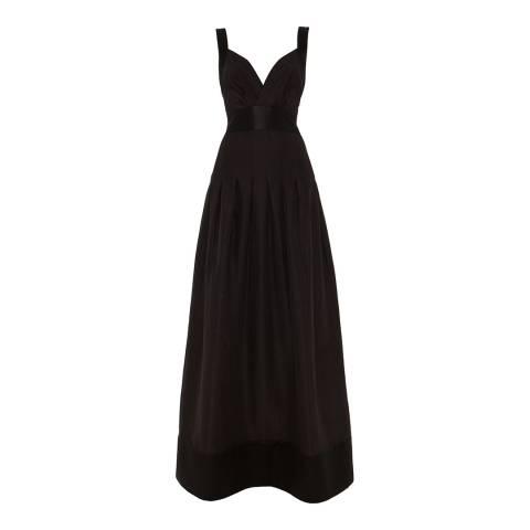 Temperley London Black Palais Maxi Cotton/Silk Blend Dress