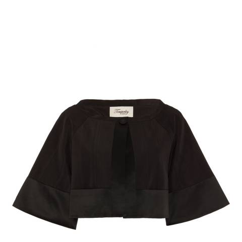 Temperley London Black Palais Cropped Cotton/Silk Blend Jacket
