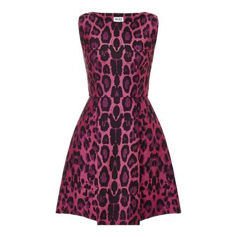 Alice by Temperley Pink Leopard Fabienne Mini Dress