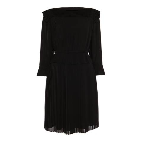 Alice by Temperley Black Rose Pleated Dress