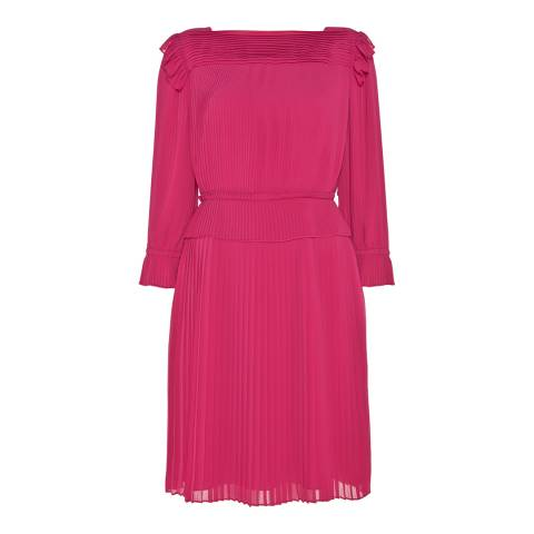 Alice by Temperley Pink Rose Pleated Dress