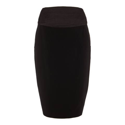 Alice by Temperley Black Alice Pleat Waist Midi Skirt