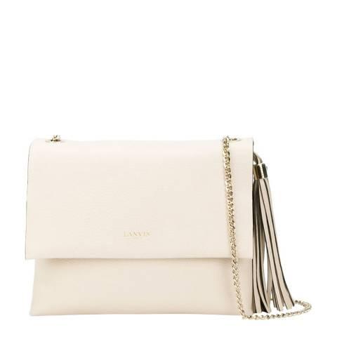 Lanvin Cream Leather Sugar Shoulder Bag