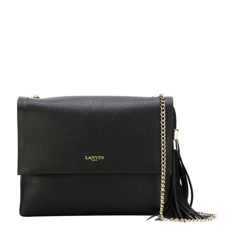Lanvin Black Leather Sugar Shoulder Bag