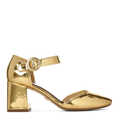 Kurt Geiger Gold Poppy Mary Jane Court Shoe
