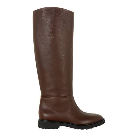 Hobbs London Brown Leather Piper Long Boots