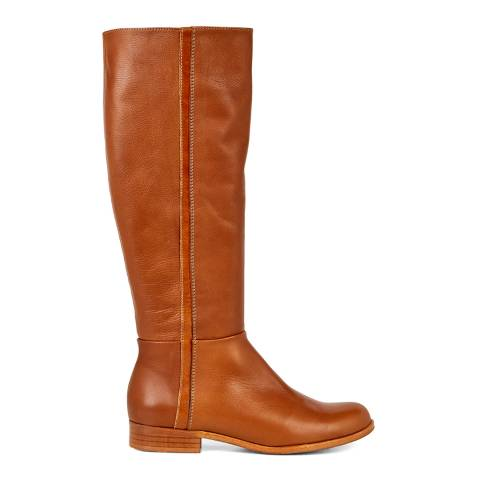 Hobbs London Tan Leather Diane Long Boots