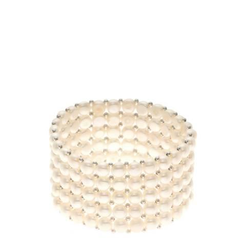 Atelier Pearls White Freshwater Pearl Bracelet