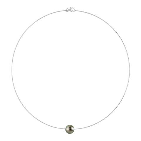 Mitzuko Silver Tahiti Pearl Necklace 9-10mm