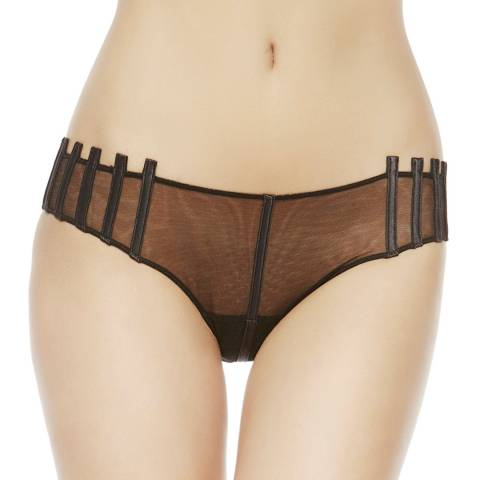 La Perla Black Graphique Couture Silk Briefs