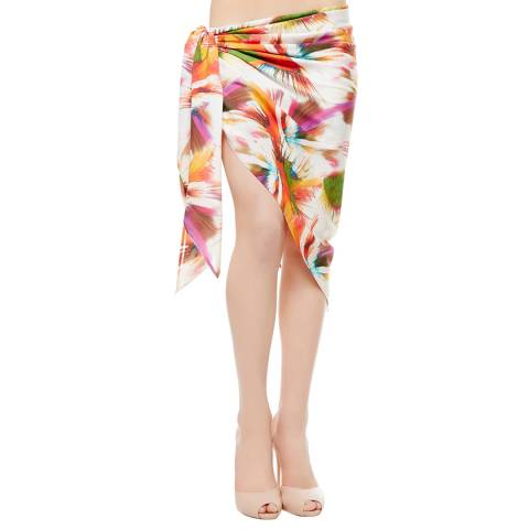 La Perla White/Pink Abyss Sarong One Size
