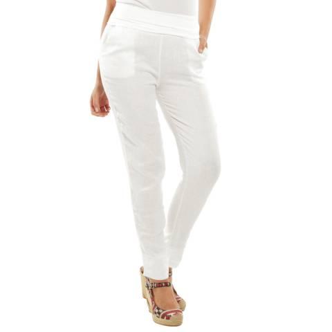 Toutes belles en LIN White Provence Slim Linen Trousers