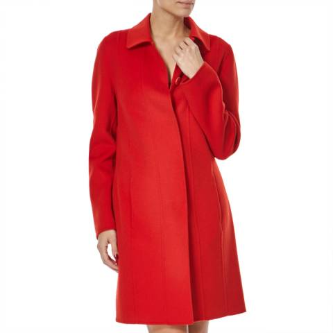 Boss by Hugo Boss Red Wool Cashmere Cegina Coat