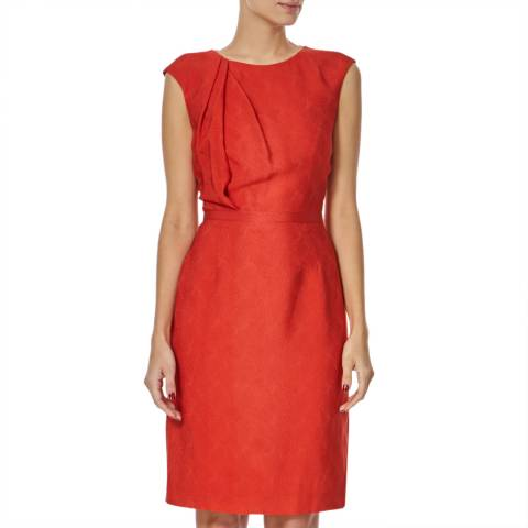 Boss by Hugo Boss Red Grosgrain Ribbon Dumila Dress
