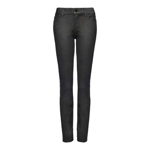 NYDJ Grey Coated Skinny Cotton Stretch Jeggings