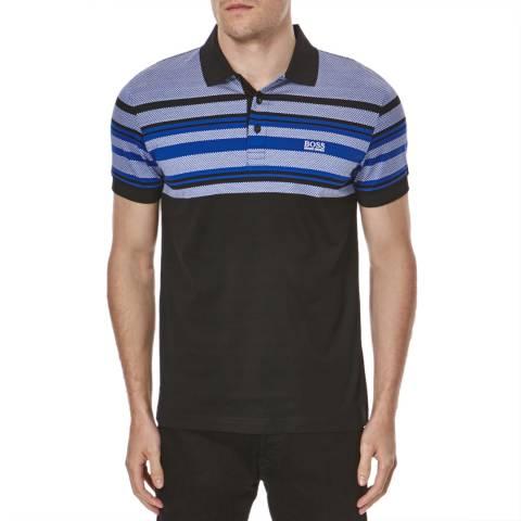 Hugo Boss Black/Blue Paule  Slim Fit Cotton Polo Shirt