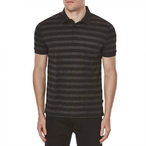 Hugo Boss Black Varenna  Stripe Cotton Polo Shirt