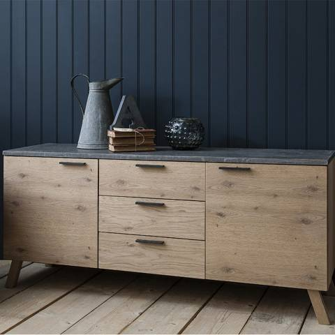 Gallery Natural/Grey Three Drawer Chilson Sideboard
