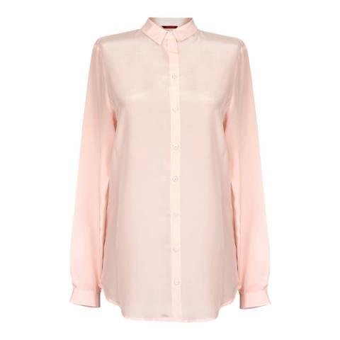 WTR London Light Pink Harmony Silk Shirt