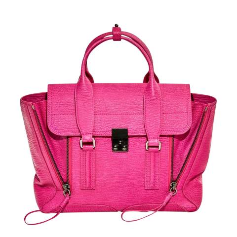3.1 PHILLIP LIM Fuchsia Leather Medium Pashli Satchel