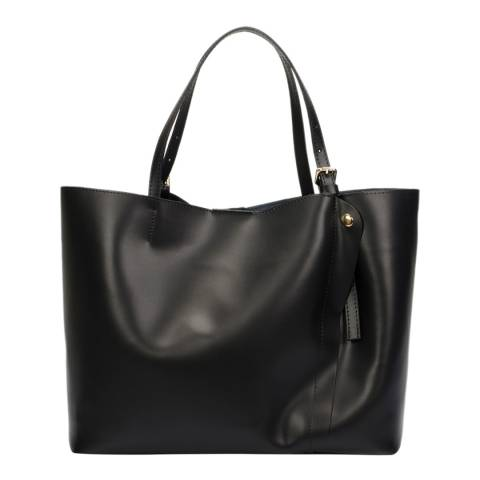Lisa Minardi Black Leather Shoulder Bag