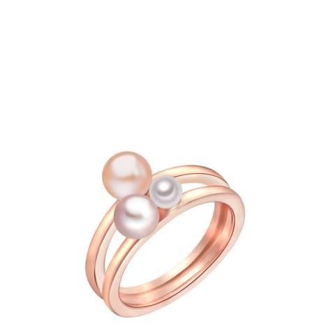 Nova Pearls Copenhagen Rose Gold/White Pearl Ring