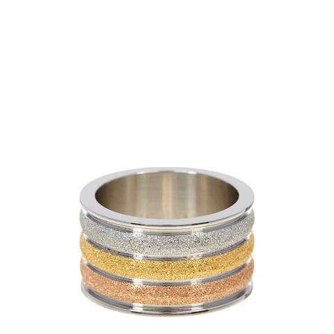 Chloe Collection by Liv Oliver Sterling Silver Plated Three Tone Ring