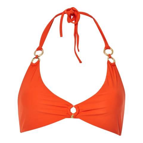 Amanda Wakeley Orange Ring Straps Bikini Top