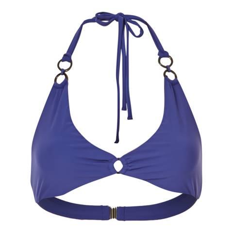 Amanda Wakeley Sapphire Blue Ring Straps Bikini Top