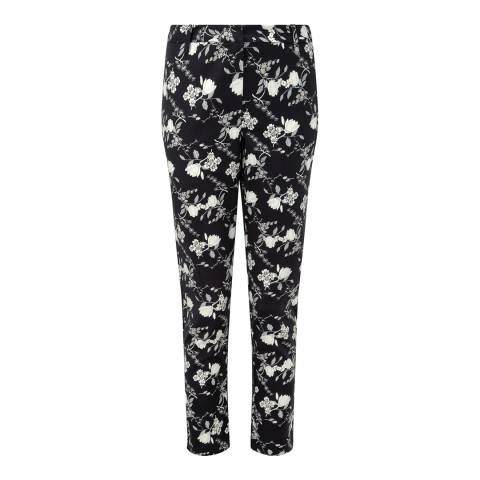 Pure Collection Black Floral Capri Trousers