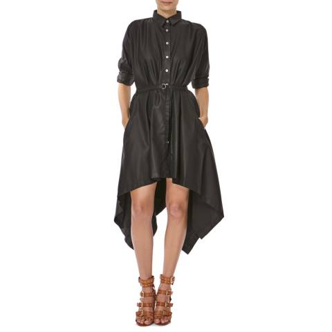 Bolongaro Trevor Black Square Cotton Shirt Dress