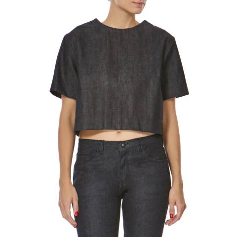 Bolongaro Trevor Indigo Denim Cropped Top